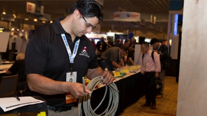 Alberto Luna was BICSI's Installer of the Year in 2015 and 2016. BICSI is accepting applications for its 2018 Cabling Skills Challenge, which will be held February 5-7 as part of the association's Winter Conference.