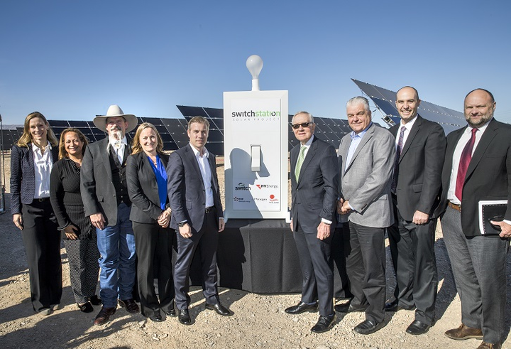 Formal commissioning event lauds utility-scale 179 MW solar power plant delivering 100% renewable energy to Switch data centers in Nevada