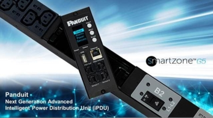 Panduit's SmartZone G5 Intelligent Power Distribution Units are available in basic, monitored input, monitored switched, monitored per outlet, and monitored and switched per outlet series.