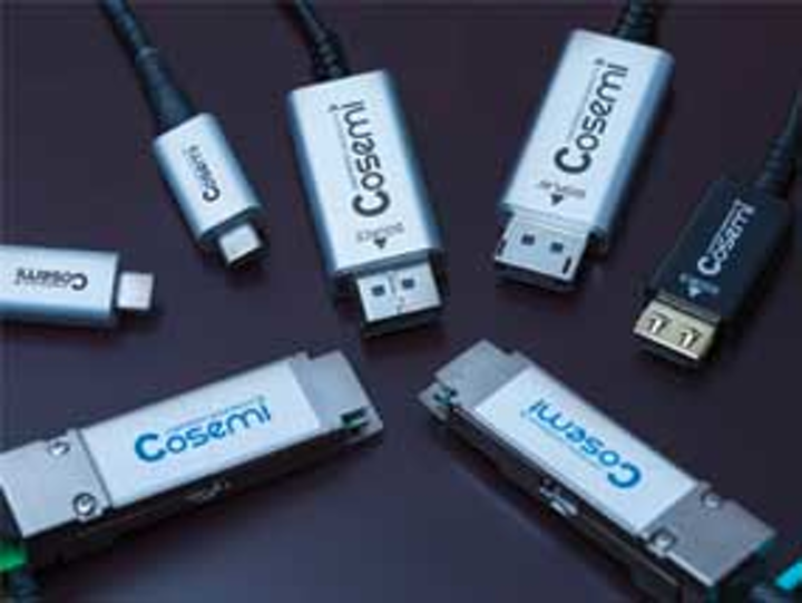Cosemi launches active optical cables for home, enterprise and cloud applications