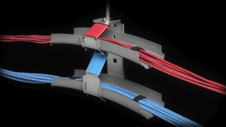 MonoSystems' J-Hook Cable Support Extender provides a 12-inch-by-2.75-inch support platform that reduces cable stress points, strain, sag, and heat buildup.