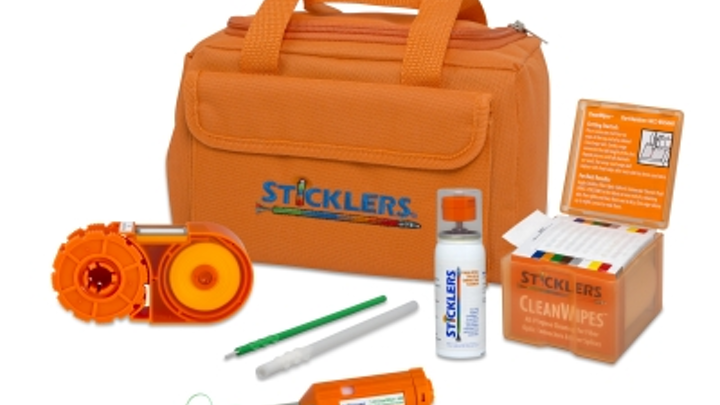 The Sticklers FTTA Cleaning Kit has the tools needed to clean 1.25mm ODC and LC connectors.