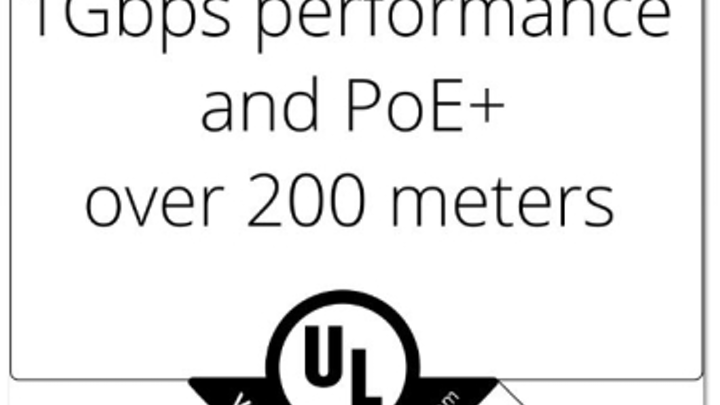Underwriters Laboratories verified Paige DataCom Solutions' claim that the GameChanger cable delivers 1-Gbit/sec performance and Power over Ethernet Plus to 200 meters.