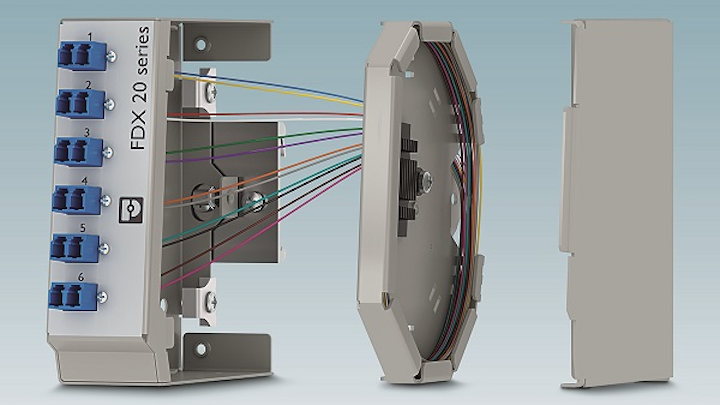 Compact fusion splice boxes from Phoenix Contact