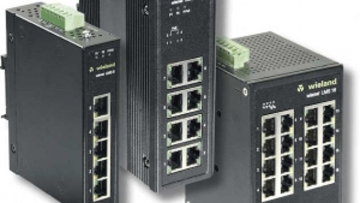 Wieland adds 3 new industrial Ethernet switches