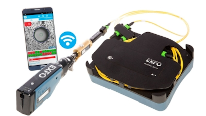 EXFO's ConnectorMax MPO Link Test Solution tests polarity, continuity and connector cleanliness of MPO-12 and MPO-24 fiber-optic links.