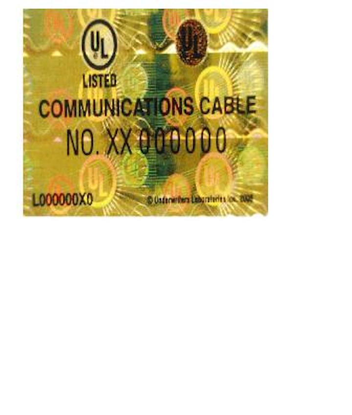 Content Dam Etc Medialib New Lib Cablinginstall Online Articles 2010 10 Ul Holographic Label 83734