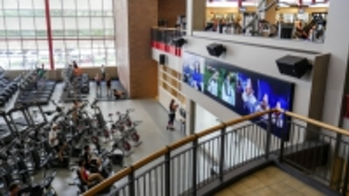 Planar installs massive video wall at UNLV fitness center