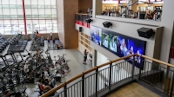 Planar installs massive video wall at UNLV fitness center