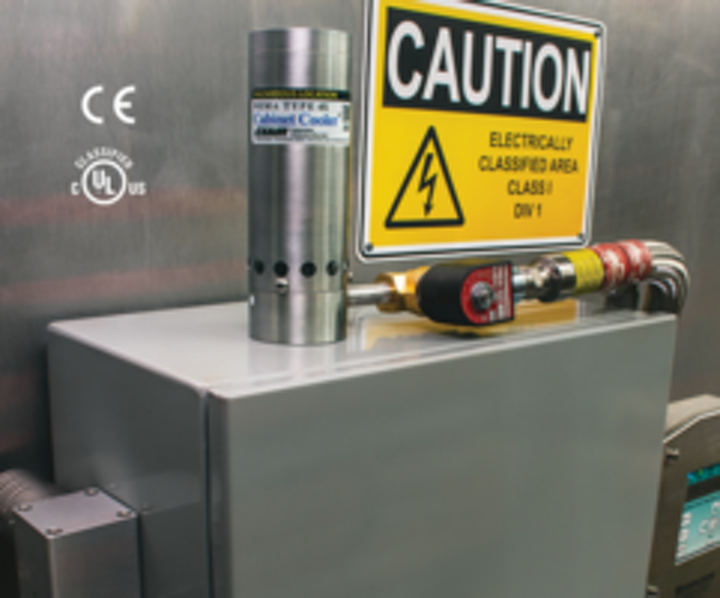 Exair's HazLoc cabinet coolers approved for Class I Div 1 environments