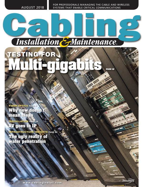 Cabling Installation & Maintenance Volume 26, Issue 8
