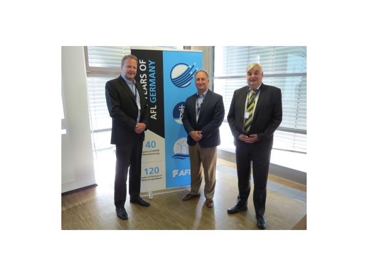 Pictured from left: Markus Philipp, Managing Director, AFL Germany; Kurt: Professor Dr.-Ing. Albert Moser of RWTH Aachen University
