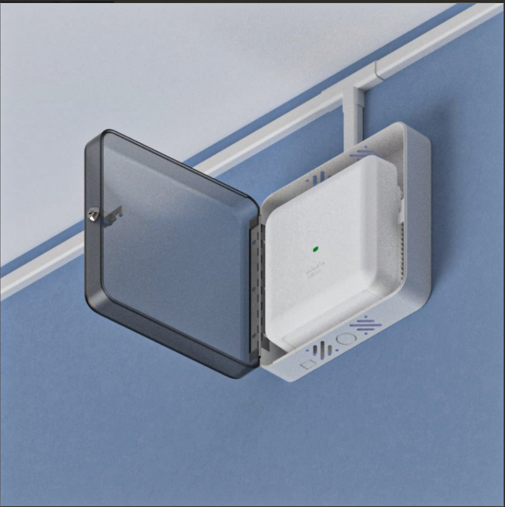 The Telecommunications Industry Association's TSB-162-A document advises users to consider the maintenance and security of access points, and recommends using an enclosure where physical security is a concern. Enclosures used for these applications should have metal housing, hinged doors, low profiles, and should provide knockouts for cable egress.