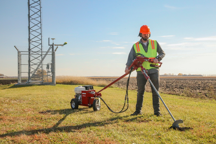 The hydraulic earth drill and anchoring kit allowed the utility company to double their productivity and finish jobs twice as quickly.