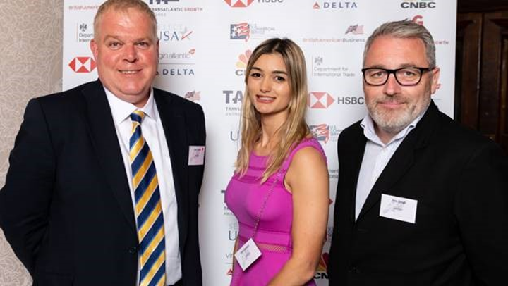 Left to right: Andy Sharkey, senior sales director for Northern Europe; Chloe Barnard, territory account manager; Pete Gough, UK and Ireland sales director.