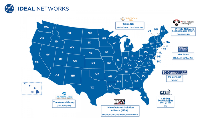 New Ideal Networks Rep Agencies To Support Us Customers Locally