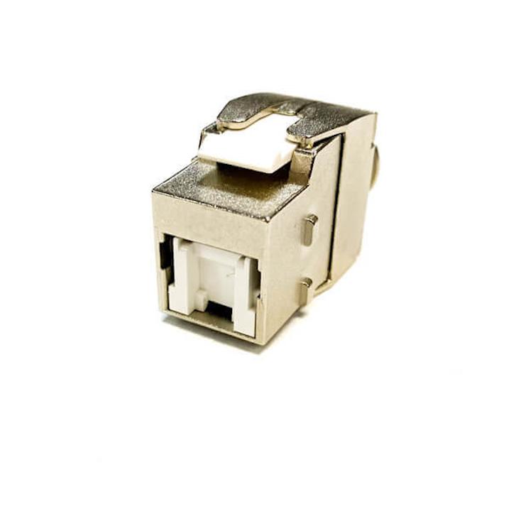 Slim Design Shielded Keystone Jacks Terminate Cat 6 Cat 6a Cat 8 Cabling Cabling Installation Maintenance
