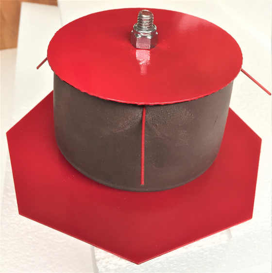 The Core Bore Firestop System seals core holes in fire-rated slabs.